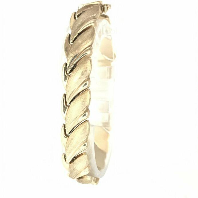 Textured Puff Link Bracelet