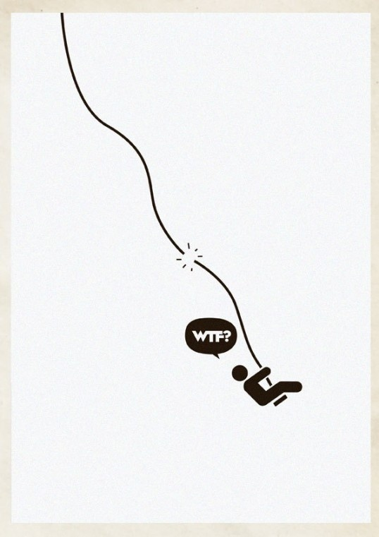 WTF? in defringe.com #wtf #illustration #defringe #poster