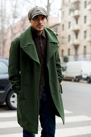 The Sartorialist #coat #newsboy #green