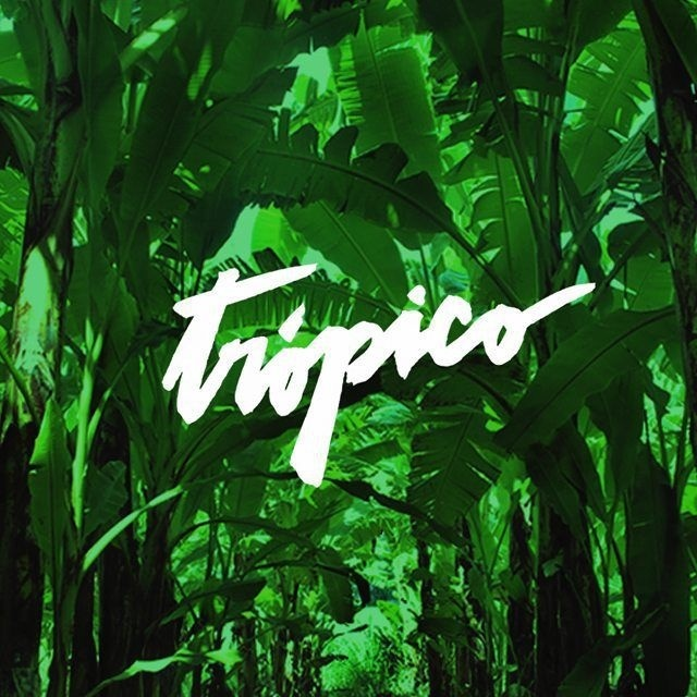 Trópico • Elemasele Studio #lettering #typography #tropic #tropical #banana #letters #typographic #handmade #green #design #graphicdesig