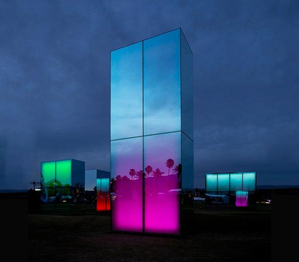 phillip k smith III mirrors reflection field for coachella #coachella