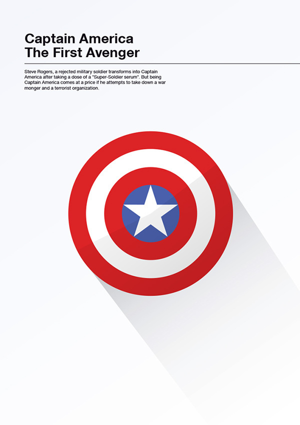 Minimalist Movie Posters on Behance #american #captain #illustration #poster #america #minimalist