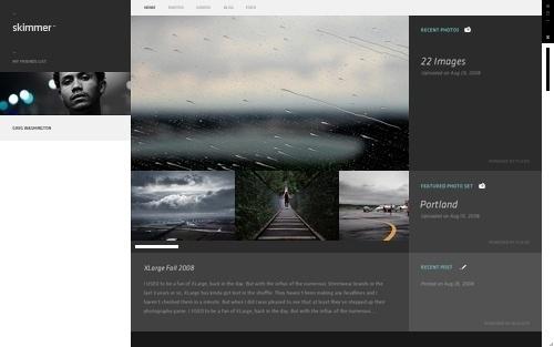 Skimmer - Profiles on the Behance Network #skimmer #photo #website #grid #layout #web