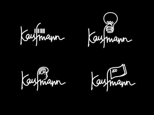 Kaufmann   BOND #agency #script #bond #drawn #logo #hand