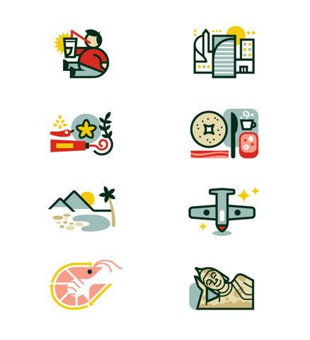 Monocle Illustrations / Icons Matt Lehman Studio #colourful