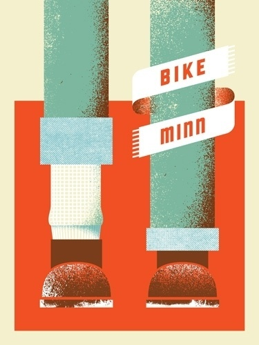 PrettyClever #bicycle #screenprint #texture #art #poster #crank