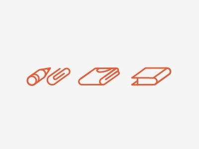Dribbble - Service Icons by John Choura Jr. #supply #books #icons #apparel