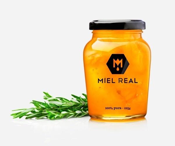 Miel Real #branding #packaging #identity #honey #logo #miel