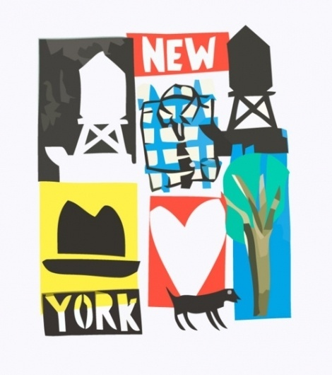   NY. #heart #red #dog #yellow #color #shapes #illustration #photoshop #york #new
