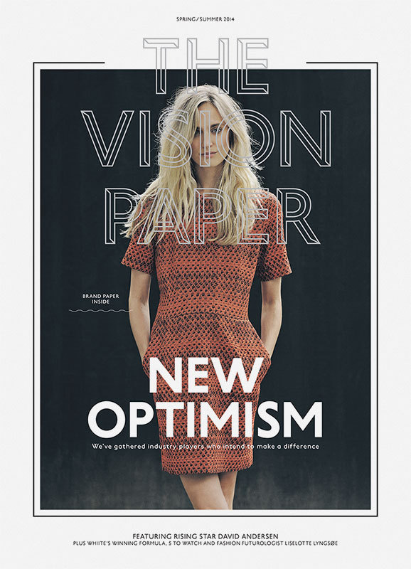 The Vision Paper SS14 | Brunswicker #fashion #cover #magazine #typography