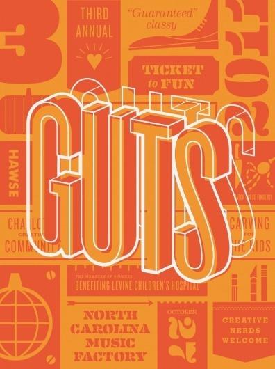 Dribbble - GUTS POSTER 2.png by Matt Stevens #guts #poster #typography