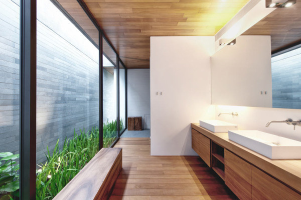 CJWHO ™ (Two Houses Become One: Wall House by...) #design #interiors #wood #photography #architecture #luxury #green