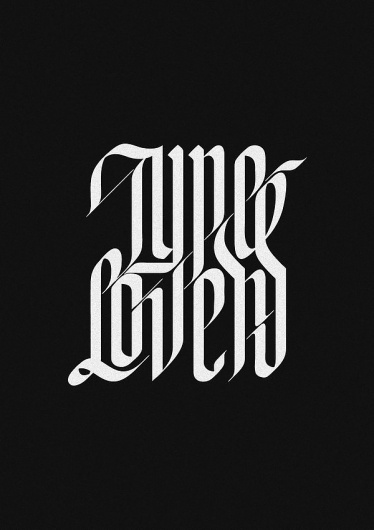 Type Lovers Project on the Behance Network #lovers #white #black #type #typography