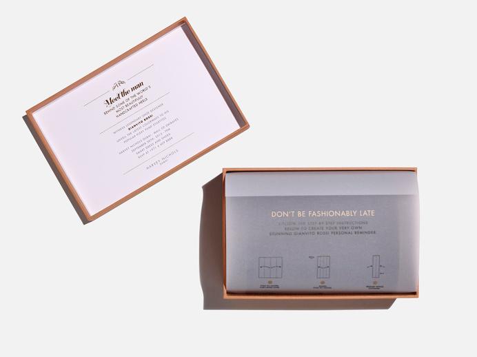Shoe box #invite #design #origami #gianvitorossi #print #packaging