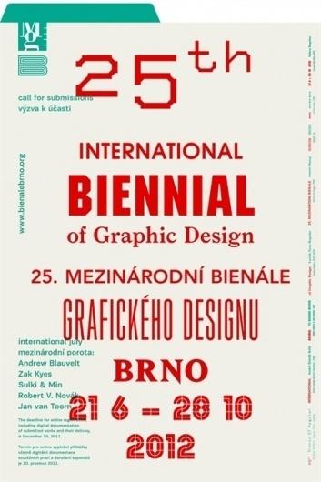Moravská galerie v Brně - Bienále Brno 2012 #galerie #typo #poster #moravska