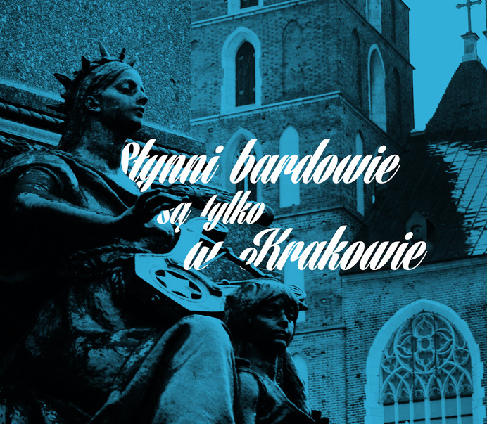 Cracow Poster #poland #blue #sculpture #poster