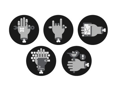 Dribbble - Capabilities Icons by Colin Miller #vector #icons #illustrations #hands