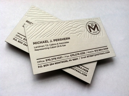 Landman Business Card on the Behance Network #business #card #pershern #press #on #fire #studio #topographic #cards