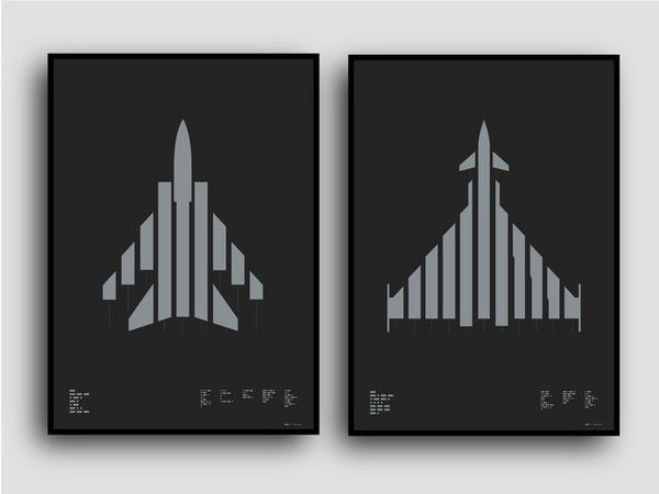 Tornado and Typhoon available on Kickstarter til 4th May 2014 Metallic silver on tank-like paper #graphicdesign #aircraft #kickstarter #typography