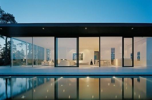 WANKEN - The Blog of Shelby White » Modern Stockholm Residence #glass #blue #architecture #house