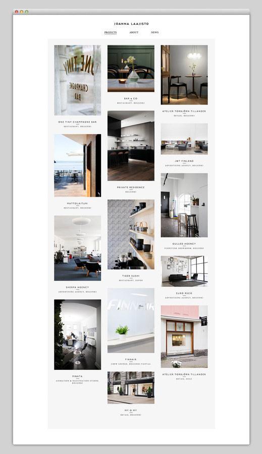 Joanna Laajisto #website #grid #layout #web