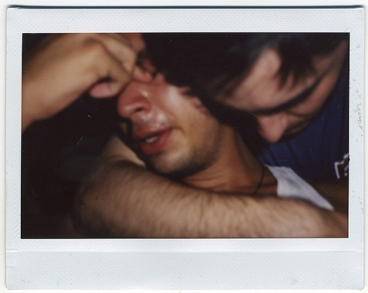 camography 6, 2005 | Flickr - Photo Sharing! #fuji #instax #cry #polaroid #intimacy #men #man #crying