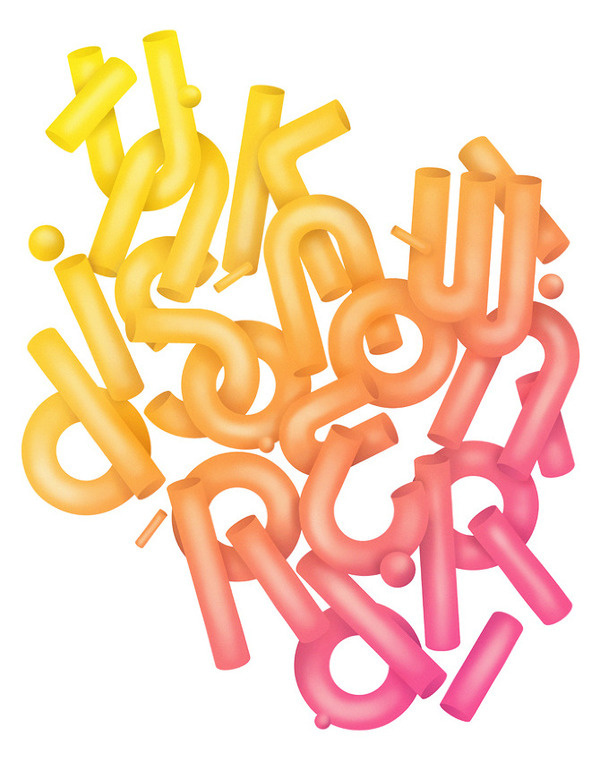 Unknown Disorder André Beato #illustration #color #gradient #typography