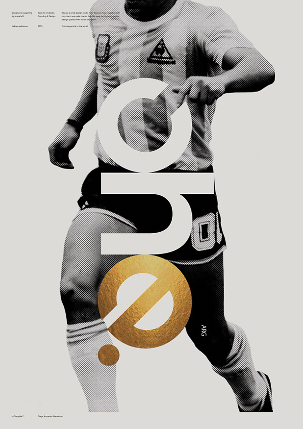 Che Soccer Poster #poster #print #type #photography