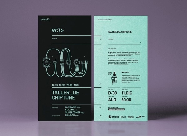 Chiptune — Technology Workshop #typography