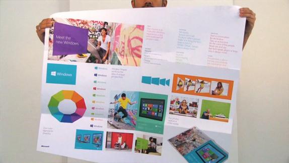 Windows 8 Launch #layout #folding #colour