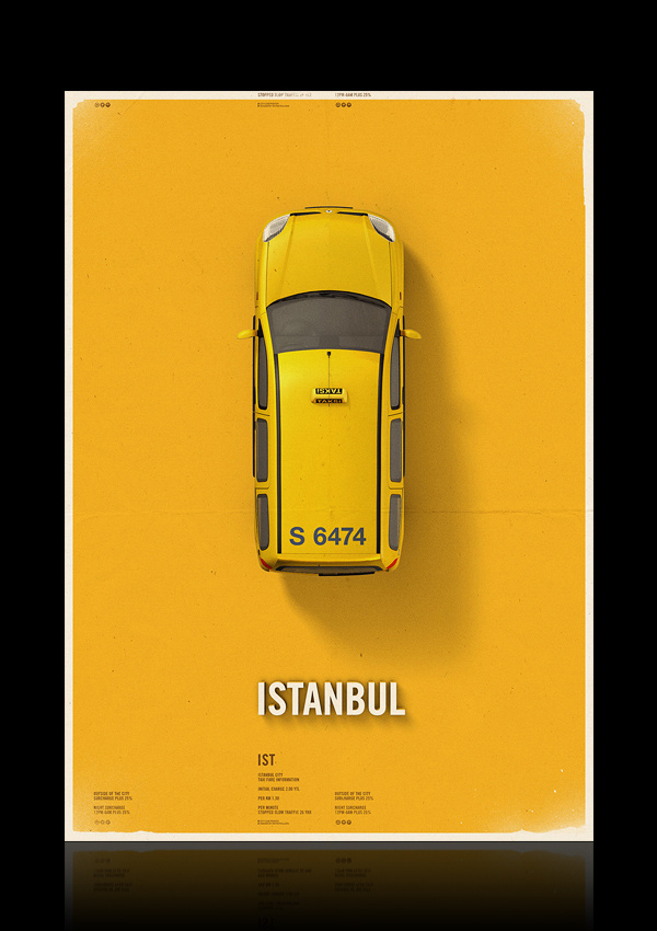 Citycab poster on Behance #yellow #design #graphic #cab #taxi #poster