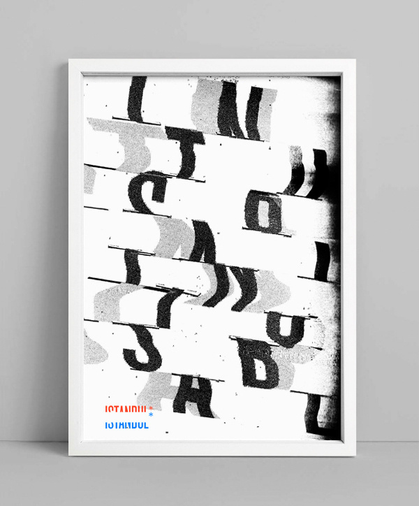 NEUE Show Us Your Type – Posters on Behance #neue #photocopy #istanbul #distortion #scanner #typography