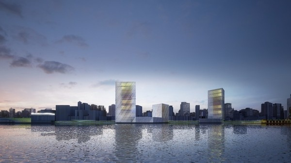 New Waterfront for Porto Alegre / b720 Fermin Vazquez Arquitectos #towers #renderings #architecture #facades