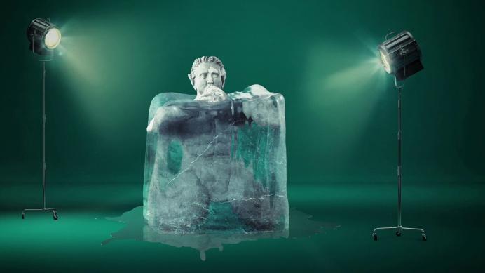 #hellbrunn #cgi #postporduction #animation #sujet #advertising #wasserspiele #ice #icecube #cube #studio #lamp #light #green #postproduction