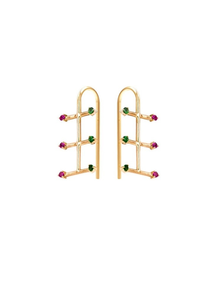 Fine jewellery earring by SMITH/GREY #ring #jewellers #jewelry #earrings #finejewellery #gemstones #gold #artdirection #fashion