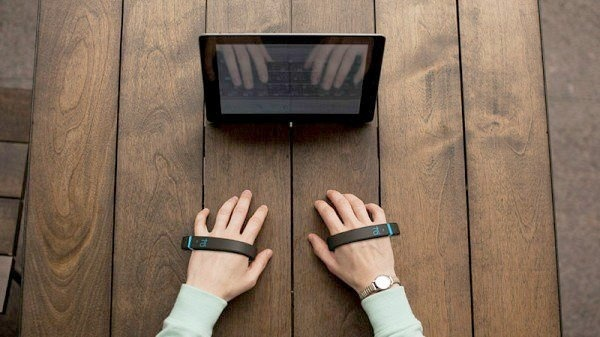 AirType is a keyless keyboard which turns information from finger movements into readable type via Bluetooth. Typing has never been done lik #keyboard #modern #design #technology #product #industrial #keyless #gadgets #no #keys