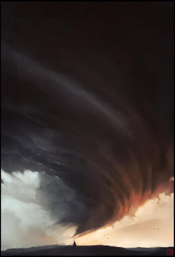 Clouds caster by GaudiBuendia on deviantART #clouds #tornado #weather #spiral #illustration #concept #storm #twist #magic #art #twister