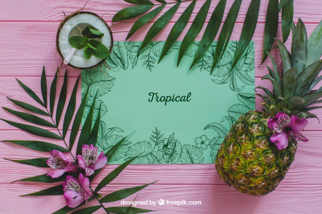 Tropical summer concept with pineapple Free Psd. See more inspiration related to Flower, Mockup, Floral, Party, Summer, Paper, Beach, Sun, Leaves, Fruits, Tropical, Holiday, Mock up, Coconut, Pineapple, Palm, Decorative, Vacation, Wooden, Summer beach, Summer party, Aloha, Up, Beach party, Tropical flowers, Season, Concept, Hawaiian, Palm leaves, Painted, Composition, Mock, Exotic, Summertime and Seasonal on Freepik.