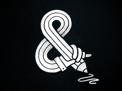 Dribbble - Sketching Ampersand by Eva-Lotta Lamm #ampersand #illustration #hand #sketch