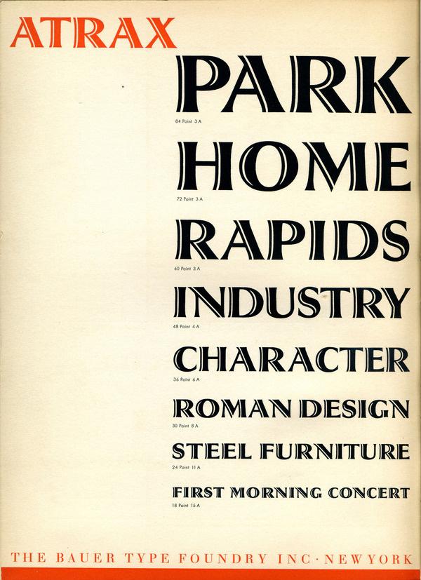Atrax type specimen #type #specimen #typography