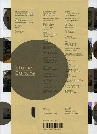 Studio Culture: The Secret Life of the Graphic Design Studio | Flickr - Photo Sharing! #book #cover #culture #studio #layout #typography