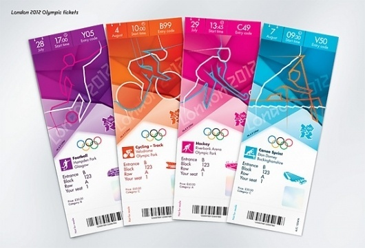 Creative Review - Olympics ticket designs revealed #2012 #london #olympics #ticket