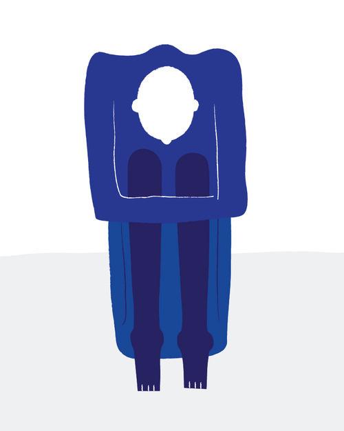 Boy #sketch #body #head #illustration #blue #man #drawing #bad