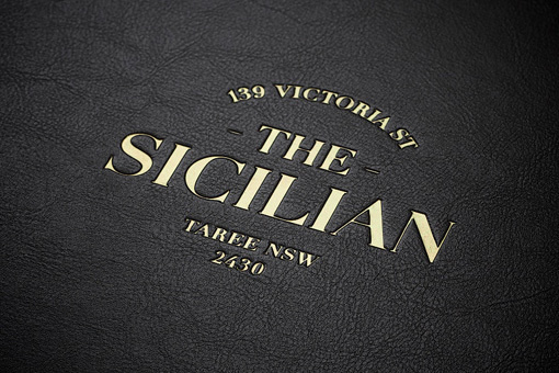 The Sicilian Foil Stamped menu #sicilian #the #branding #restaurant