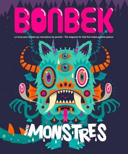 MONSTER! http://www.behance.net/gallery/MONSTRES-(-BONBEK-Magazine-4-)/6467211 #seb #feraut #niark1