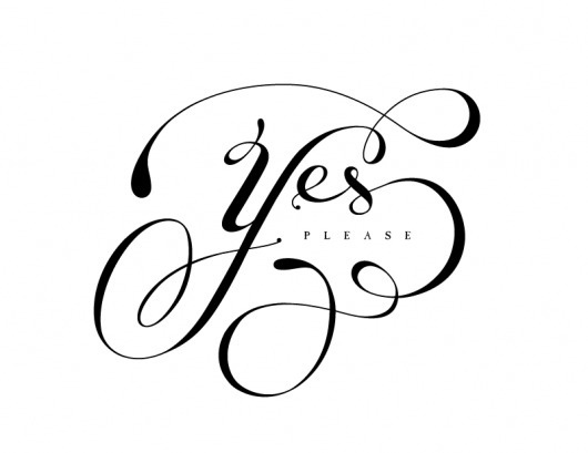 All sizes | Yes Please | Flickr - Photo Sharing! #typography #yes #melton #drew #elegant #type #please #justlucky