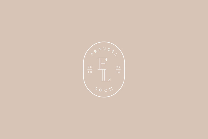 """Brand Identity for Frances Loom by Jessica Comingore """"Frances Loom's rugs are collected and curated from antique dealers and flea market"""