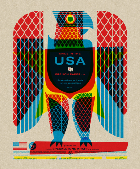 eagle poster 2 #csa #french #poster #overlay #paper