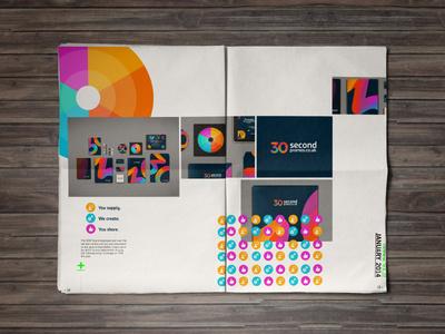 2014 // 30SP layout #green #swiss #spot #branding #portfolio #vibrant #logo #type #layout #editorial #brochure #typography