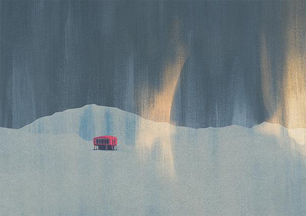 Illustrations of Snowy Retreats by Luke Twyman #illustration